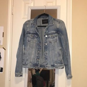 Light wash slightly distressed jean jacket